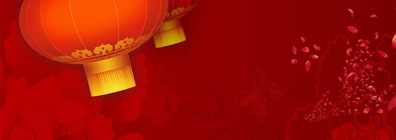 中国风灯笼背景