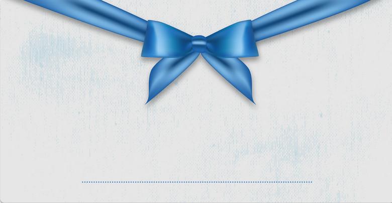美丽的蓝色礼品卡背景