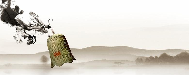中国风警钟背景