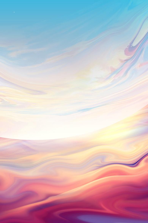 纹理渲染天空背景设计
