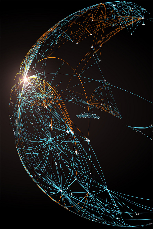 黑色炫酷几何元素科技背景