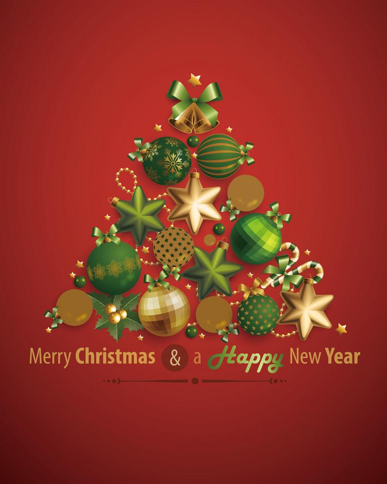 新年圣诞快乐广告背景