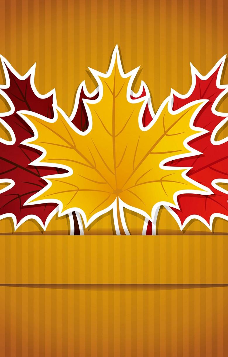 彩色树叶背景素材