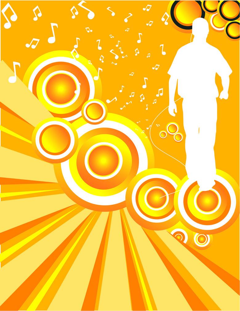 金黄色喇叭音乐设计