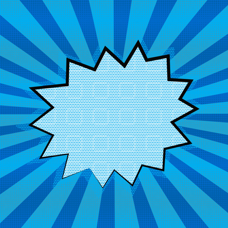 蓝色手绘漫画线条素材主图
