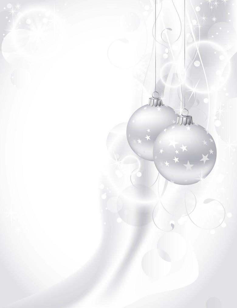 质感银色圣诞节背景素材