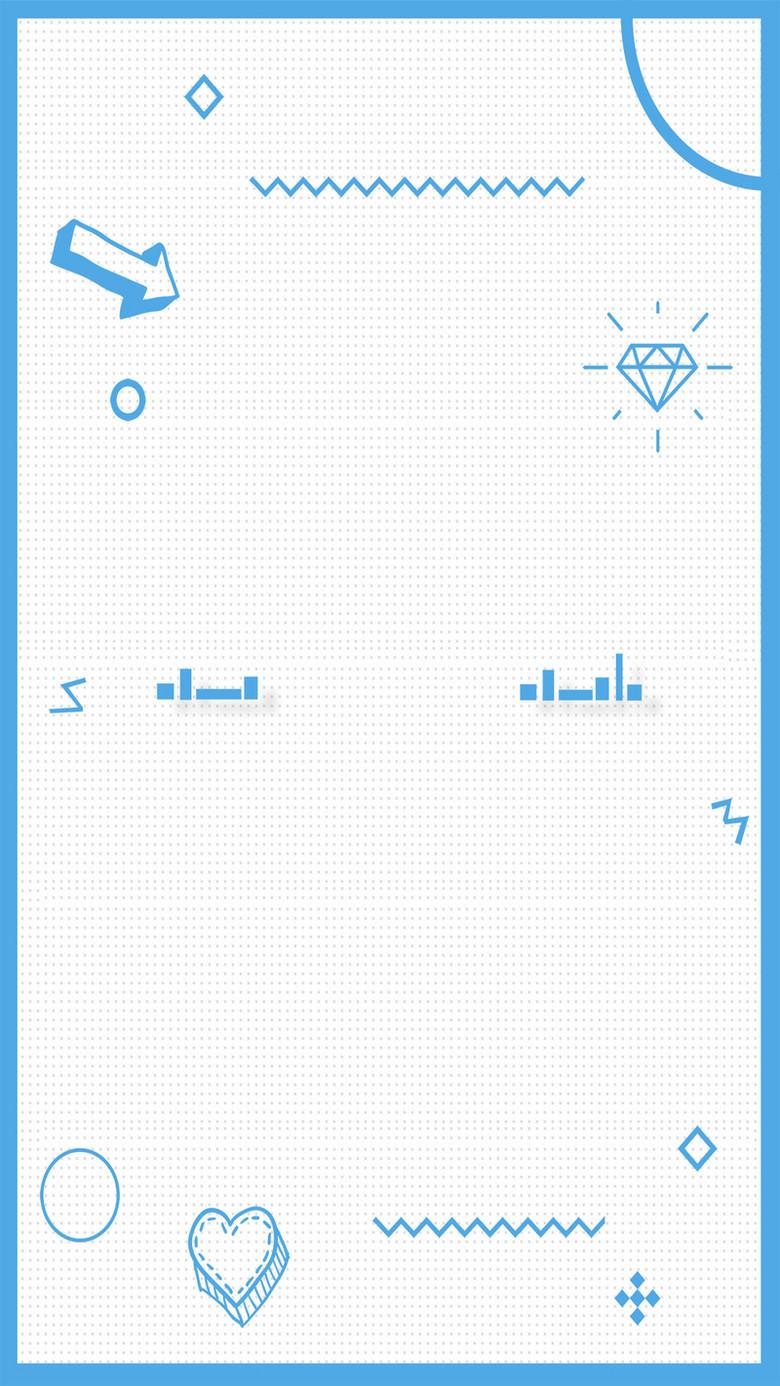 孟菲斯长框风格几何图案广告