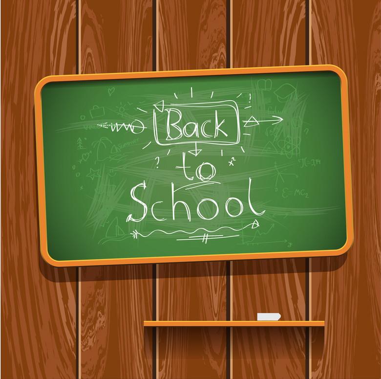 文艺简约木板底称黑板返校背景素材