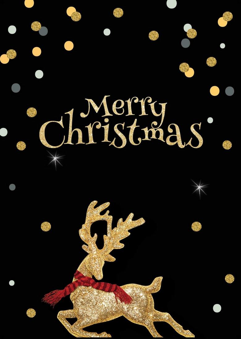 简约麋鹿圣诞节海报