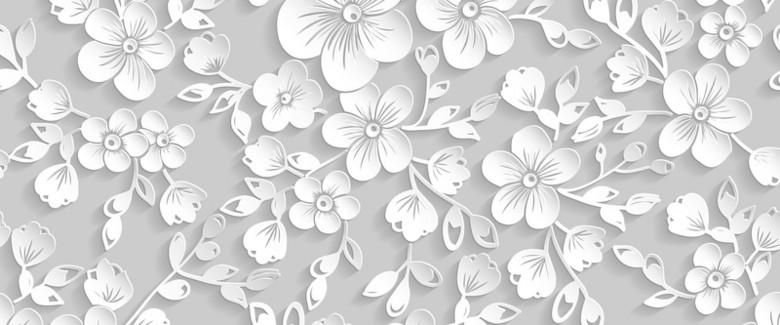 白色质感樱花背景