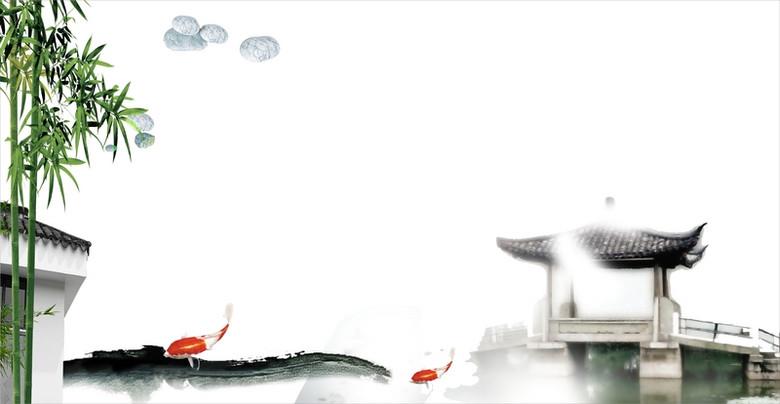 中国风竹子背景