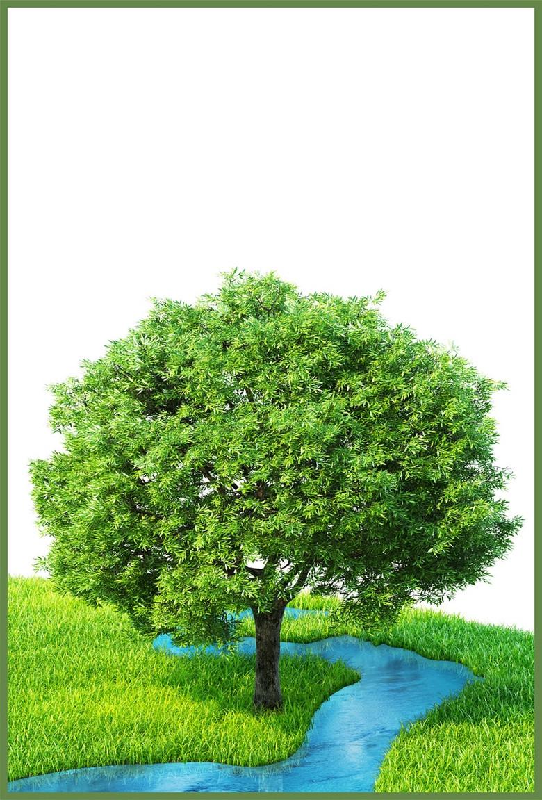 植树节公益cdr海报背景模板