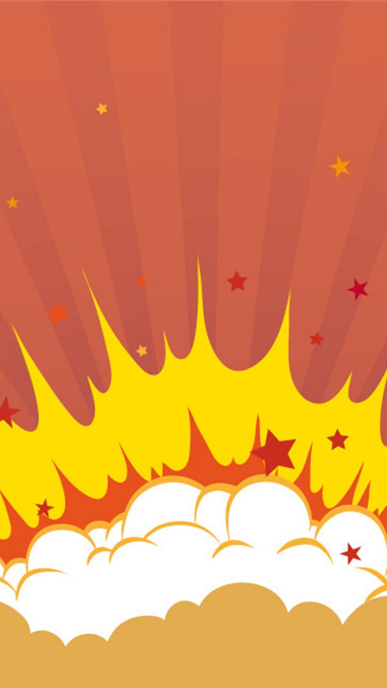 红色炸弹爆炸背景图
