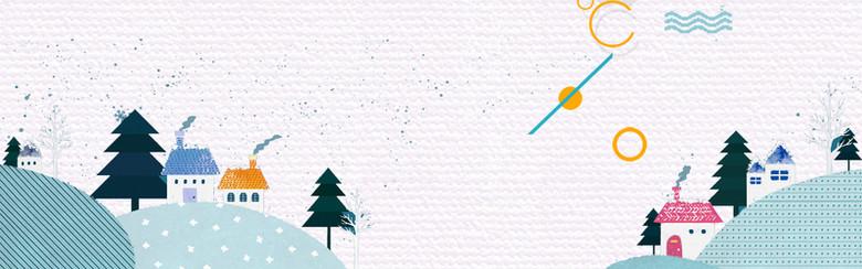 二十四节气小雪冬季banner