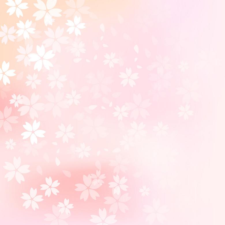 素雅樱花花朵背景
