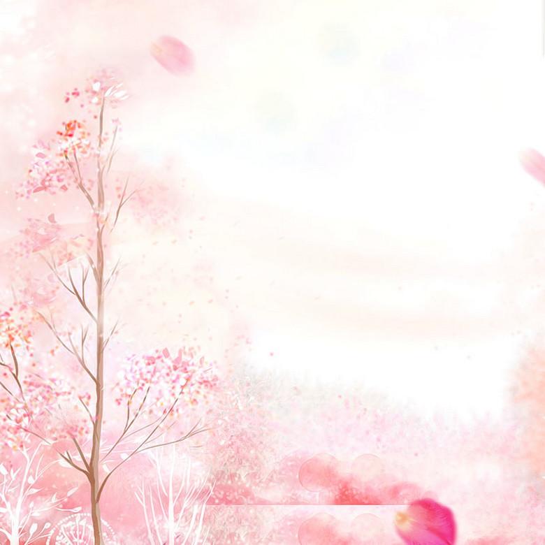 风景红色树女装背景