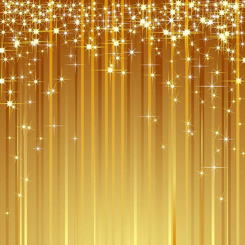 金色帷幕背景