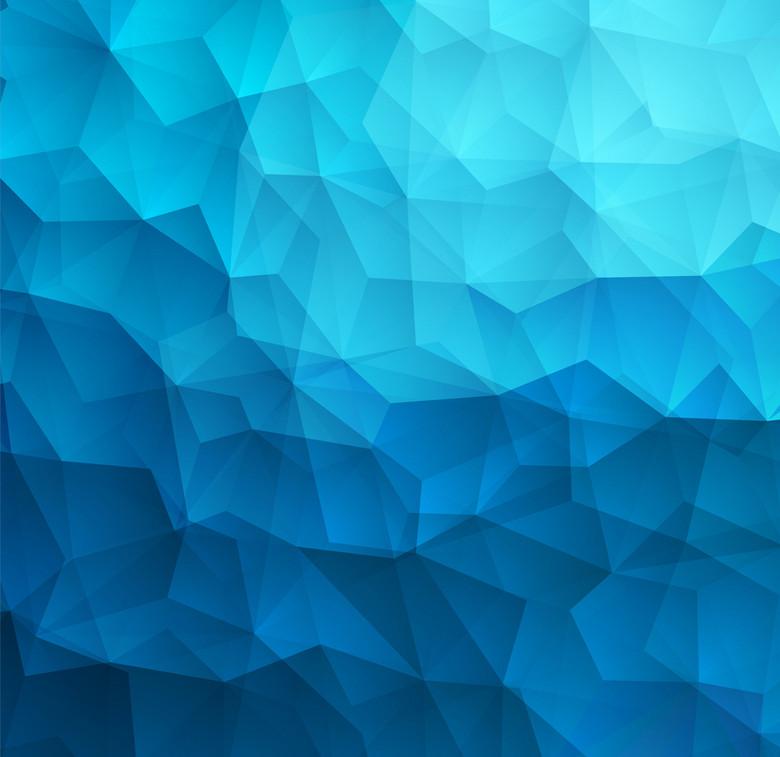 海水蓝立体多边形背景