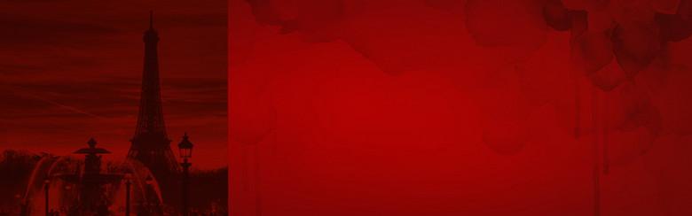 淘宝天猫双11红色城市背景