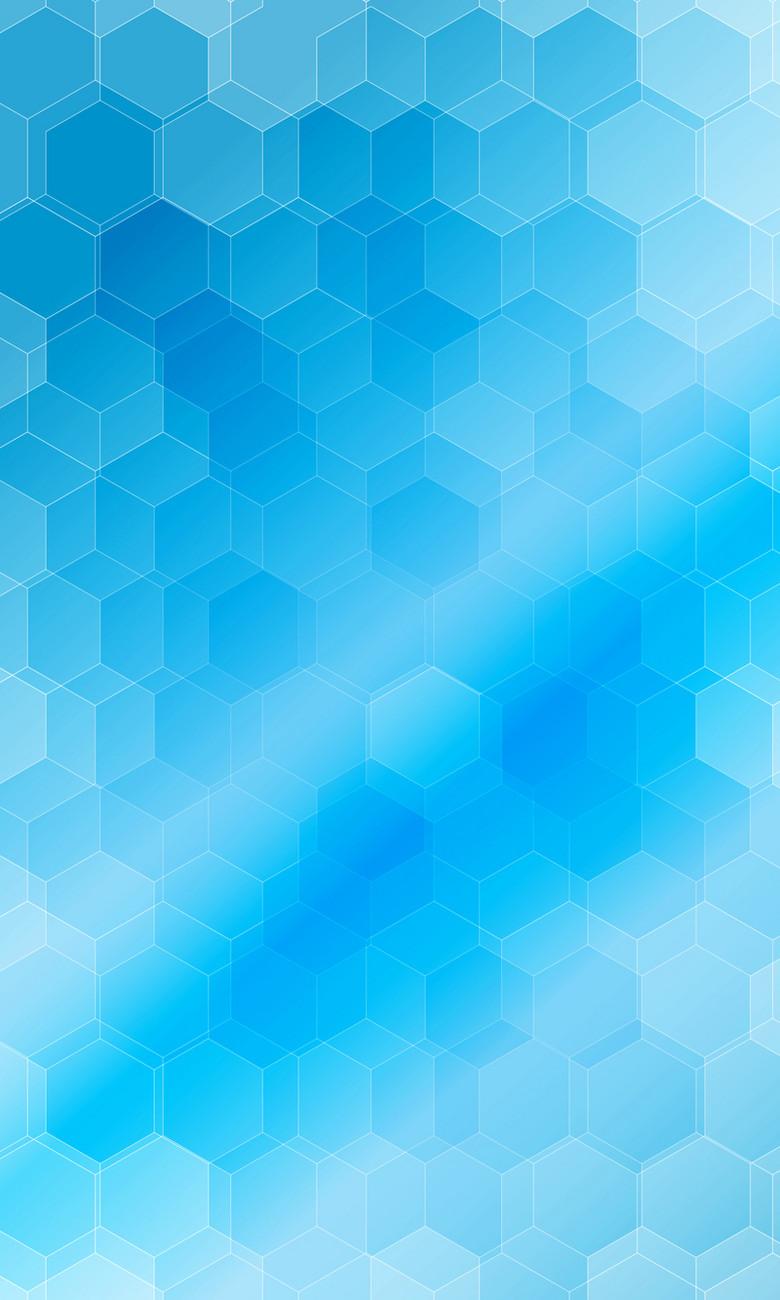 层叠混合蓝色渐变几何蜂窝形背景
