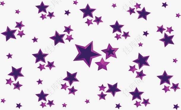 紫色夜晚星空花纹