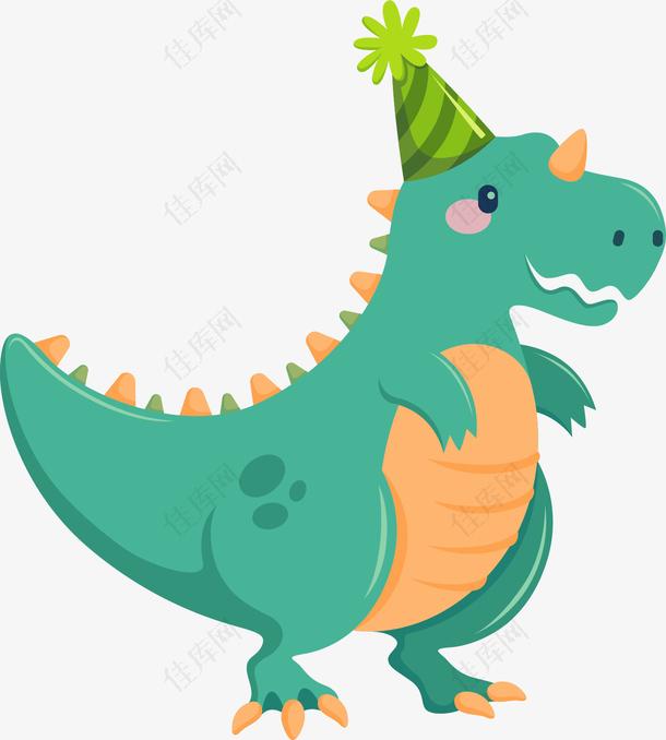 可爱卡通绿色恐龙