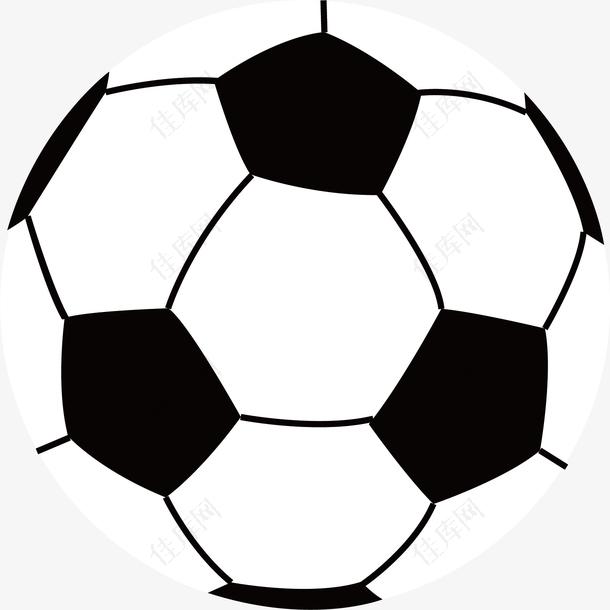 手绘足球运动器材足球图标素