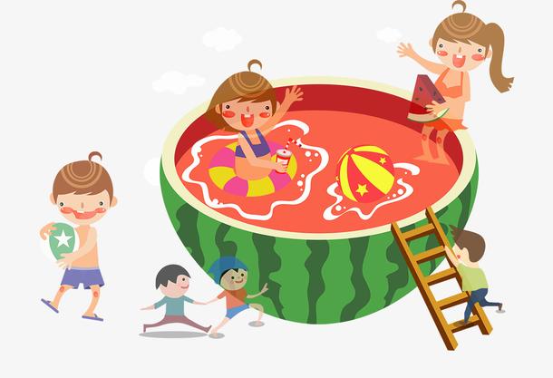 暑假小清新夏天卡通儿童