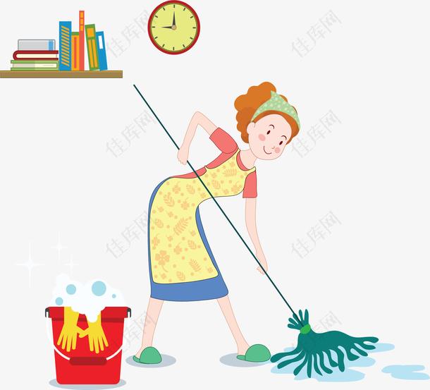 在家做家务的家庭主妇