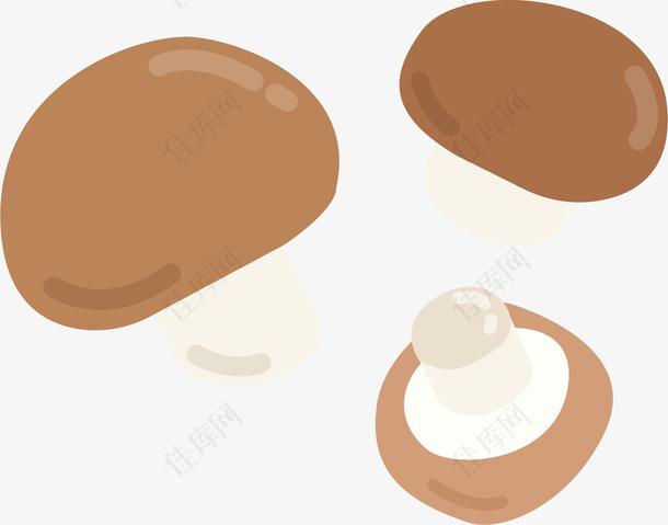 秋季立秋卡通蘑菇