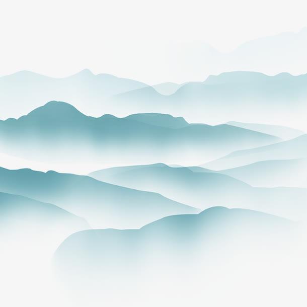 清明节水墨风山水画背景