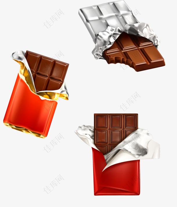打开包装的巧克力