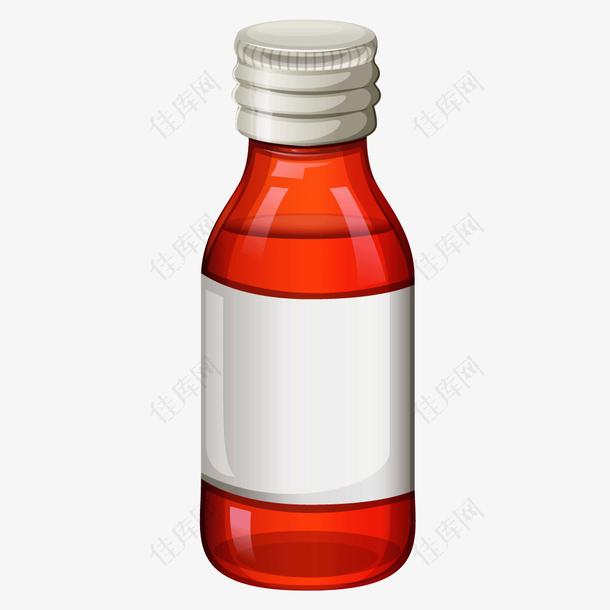 红色药品包装瓶子