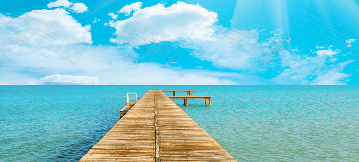 唯美大海摄影风景海报背景图
