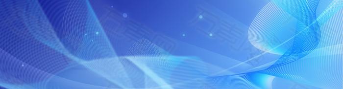 曲线蓝色科技光线圆点