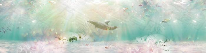 梦幻海底背景