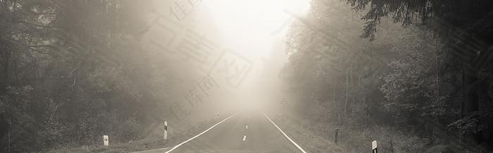 虚化高速公路背景banner图