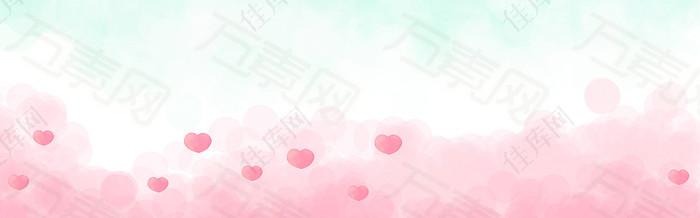 淡雅粉色banner