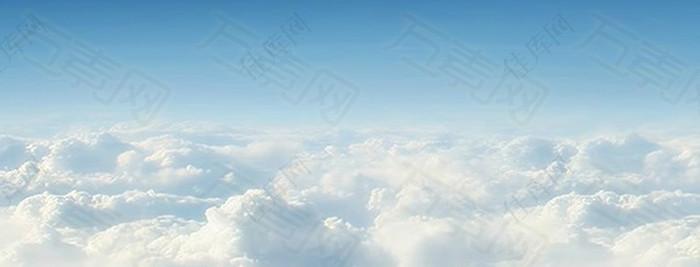 云层banner背景