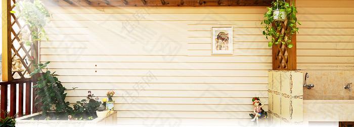 家居阳台装修背景banner