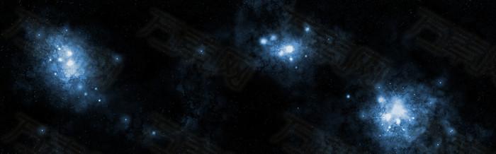 黑暗星空背景