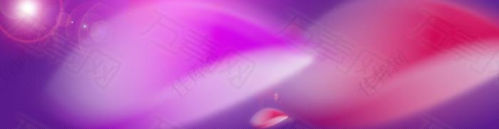 紫色朦胧唯美光束光晕背景banner