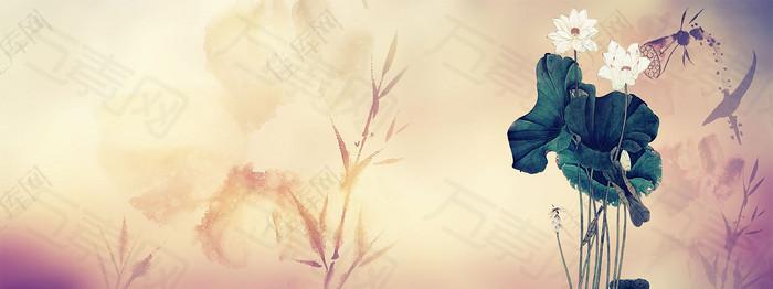 中国风背景海报