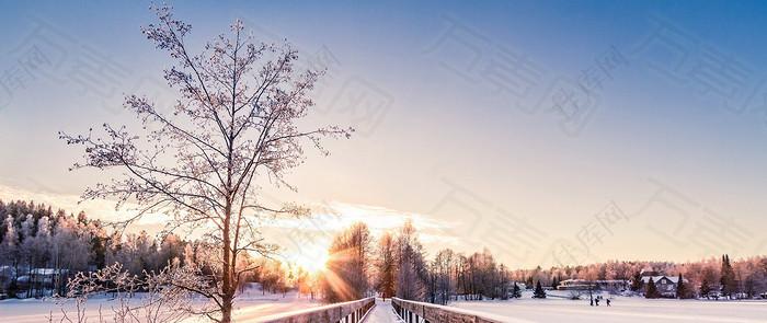 冬季唯美浪漫背景图