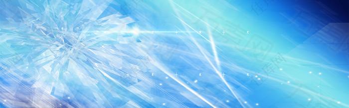 蓝色光晕梦幻背景
