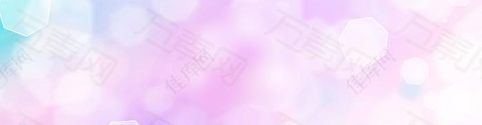 紫色渐变 六边形素材背景 banner