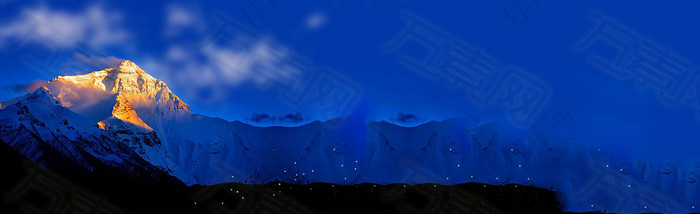 雪山唯美背景banner