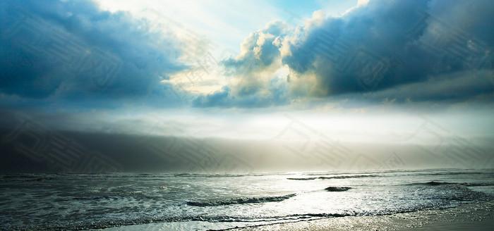 海边大气背景