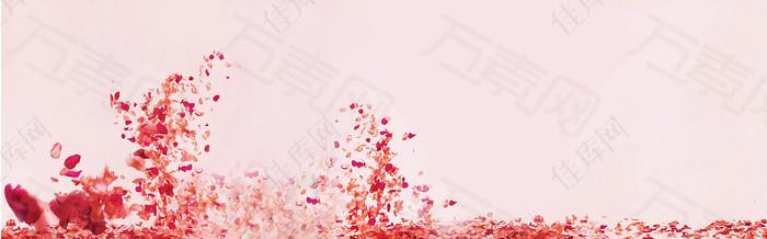 粉色花瓣浪漫背景