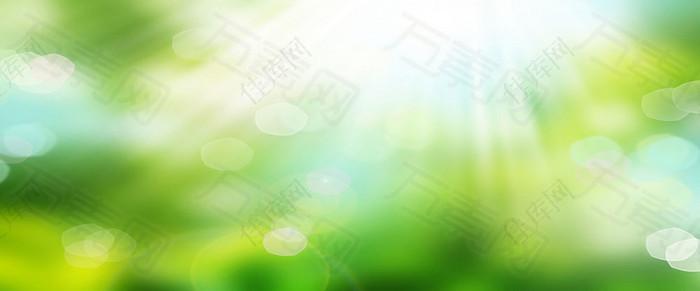 绿色太阳光晕梦幻背景
